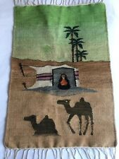 OLD Tribal Folk FABRIC Throw Woven South American African Wall hanging Ethnic