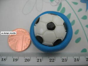 Football Sports Silicone Mould/Mold Sugar Craft, Chocolate, Cupcakes, Toppers