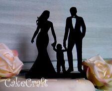Acrilico SPOSI Silhouette Mr e Mrs famiglia, cake topper Decorazione