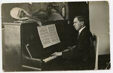 Russian Music Man. Piano Guitar  Mandolin Crimea  Photo Postcard by Chudik