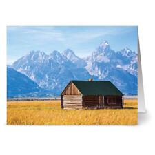 24 Note Cards - Big Sky Cabin - Kraft Envs
