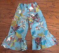 Girls Toddlers Matilda Jane You & Me Cherry Farm Big Ruffles pants Size 4 6 EUC