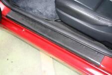Noir Fibre de carbone effet porte étape Sill Protecteurs Fits Nissan (02B)