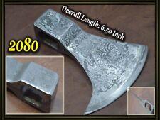 "6.5""Custom made Damascus steel hatchet axe head ,knife making suppliers 2080"
