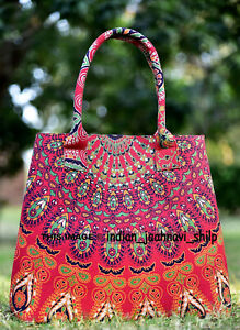 New Indian Cotton New Mandala Ombre Lady Purse Bag Throw Women Tote Shoulder Bag