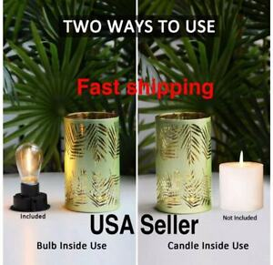 2 Sets LED Battery Operated Table Lamp Cordless Bedroom Living Room Decor(Green)