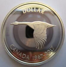 CANADA 1967-2017 $1 CANADA GOOSE 99.99% PROOF SILVER CENTENNIAL DOLLAR COIN