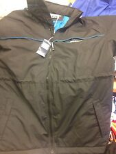 DIADORA COATS MANAGERS COAT IN SMALL TO X/L MENS IN BLACK WITH HOOD AT £20