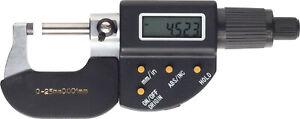 Digitale Bügelmessschraube IP54 0,001 mm, 0-25 25-50 50-75 75-100 mm, Mikrometer