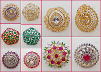 Indian American Diamante Ruby Fashion Jewelry Bollywood Party wear Ring FreeSize