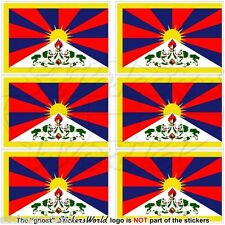 TIBET Tibetan Flag Autonomous Region of China 40mm Mobile Phone Mini Stickers x6