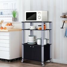 New listing Microwave Rack Stand Rolling Storage Cart