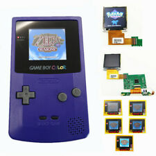 Purple Rechargeable Game Boy Color GBC Console With Highlight Back Light LCD