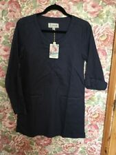 Seasalt French Navy Cotton/ Linen Blend Tunic Top Dress Size 8 - New With Tags!