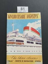 More details for vintage giblio cesare /augustus ships brochure the 3 classes italy 1954 foldout