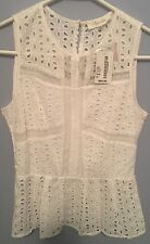 Sugarlips Size XS Top X Small White Shirt  South Moon Under 33600 New $64 Womens