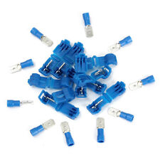 20pcs Blue Solderless Female Quick Splice Wire Connector & Male Spade Terminals