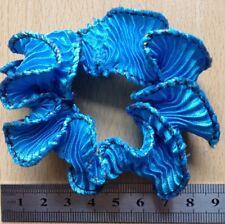 turquoise bleu plissé satin Mini ébouriffé froufrou BANDE DE QUEUE CHEVAL /