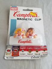 Campbell's Soup Eating Kids Magnetic Clip Refrigerator Magnets NIP NOS Arjon