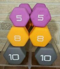 🔥New CAP Hex Dumbell Pair Set 10 8 5 Pound Dumbbells 46 lbs Total Free Shipping