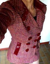 bebe - Sexy Kurzmantel Blazer Tailliert Bunt Melliert Tweed Extravagant Gr. S
