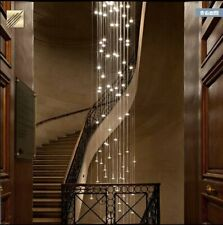 Revolving staircase chandelier duplex modern LED light luxury villa living room