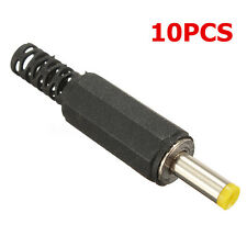 10Pcs 4.0 X 1.7mm Male Solder DC Power Barrel Tip Plug Jack Straight Connector