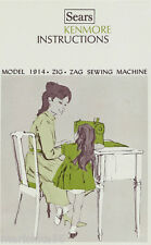 KENMORE 1914, 158.19140 - 158.19142  Sewing machine INSTRUCTION Manual on CD