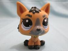 Littlest Pet Shop Brown Tan Gray German Shepherd Puppy Dog #3562 100% Authentic
