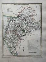 1805 Cumberland Original Antique Hand Coloured County Map by Cole & Roper