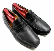 Mephisto Cool-Air Made in Portugal Black Leather Penny Loafers Moc Shoes 7.5 US