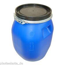 Spundfass Deckelfass Fass 30 Liter blau Plastikbehälter Kunststoffkübel