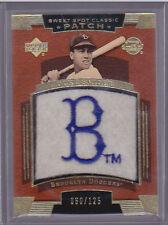 2004 Sweet Spot Classic Patch 125 #DS Duke Snider Dodgers 060/125