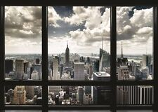 NEW YORK CITY WINDOW VIEW GIANT WALL POSTER 140cm x 100cm NYC MANHATTAN
