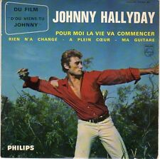 """Johnny Hallyday 45 Tours EP Philips 432967  """"Ma guitare"""""""