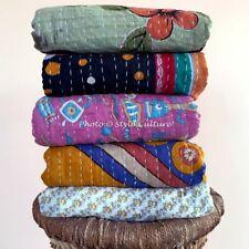 Indian Bedding Decorative Bedspread Coverlet Blanket Quilt Reversible Blanket 5p