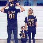 Couple T-Shirt DADDY MOMMY KID BABY Love Matching Shirts Family Clothes Tee Tops