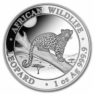 2021 Silver 1 oz Somalia African Wildlife Leopard BU Brilliant Uncirculated