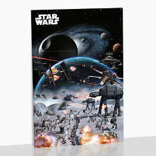 Star Wars Framed Canvas Print Death Star Tie Fighter Rebels Jedi X-Wing X Wing