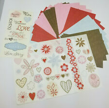 Lovelable Scrapbooking Album Kit Creative Memories Papers and Stickers Red, Pink