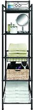 5 Tier Bathroom Towel Rack Organizer with Storage Shelf