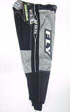 NEW FLY RACING MOTOCROSS PANTS #28 Grey YOUTH /TEEN Motorcross Dirt bike MX