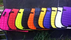 Saddle cloth ,quilted saddle cloth many colors to choose from