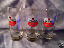 Bacardi Coca-Cola Highball Glass Set Glass Set (Set of 3)
