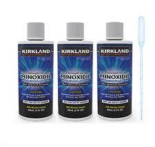 3 MONTH MENS KIRKLAND MINOXIDIL 5% REGAINE HAIR LOSS BALDNESS TREATMENT +DROPPER