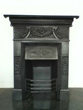 Original Restored Antique Victorian Cast Iron Bedroom Fireplace Small (BC263)