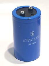 15000uf 63v Hi ondulación Bhc Reino Unido realizó Vintage Power electrolítico condensador fd5e15