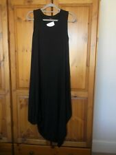 yong kim 10 dress sleeveless gathered hem black modal