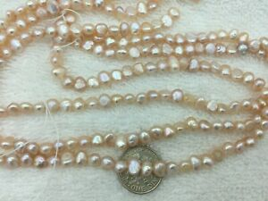 ONE STRAND NATURAL PURPLE PEACH PEBBLE FRESHWATER PEARL LOOSE CRAF BEAD Item#81