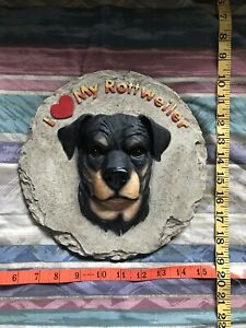 I Love my Rottweiler Stepping Stone Spoontiques Heavy Resin New Mug AKC Used Lot